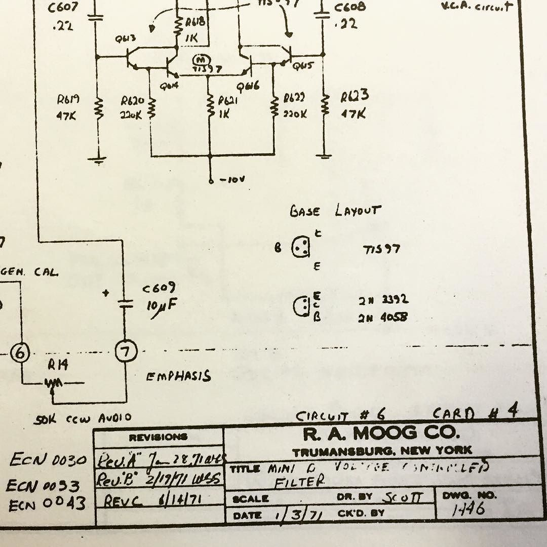 original moog minimoog filter schematic detail from early minimoog rh pinterest com Instruction Manual User Guide Template