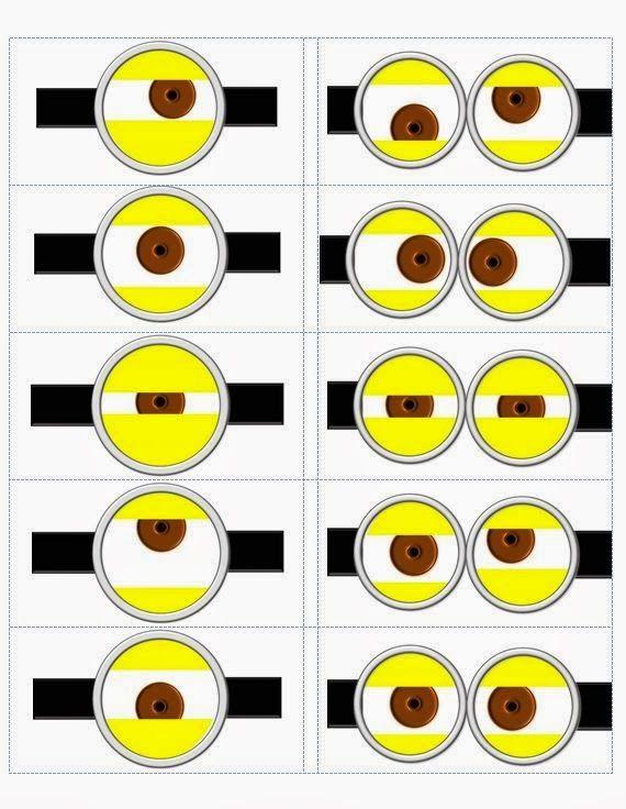 Decoração dos minions Para imprimir amarelo