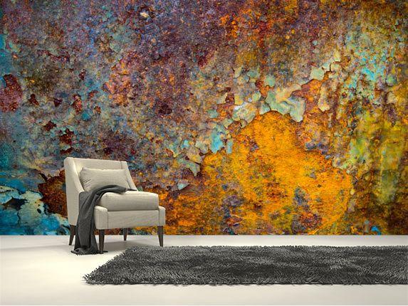 Core Of Corrosion Wallpaper Wallsauce Uk Mural Wallpaper Wall Art Wallpaper Industrial Wallpaper