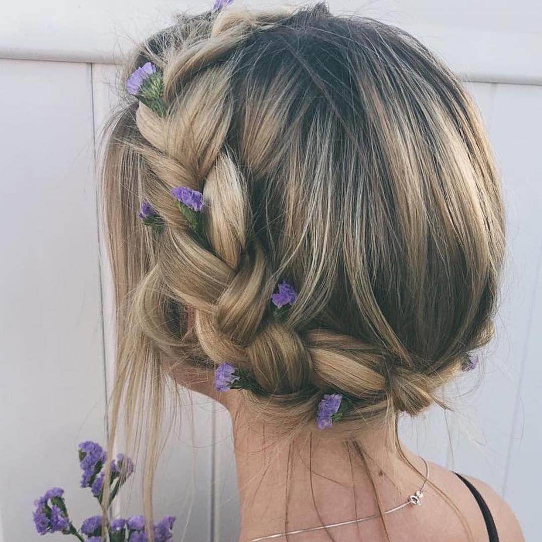 Crown braided updo