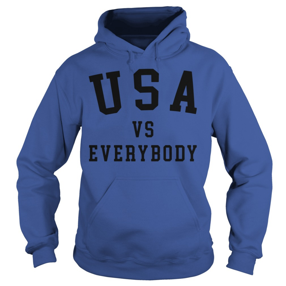 Usa Vs Everybody Shirt Hoodie Tank Top And Sweater T Shirts For Women Cool T Shirts Sweat Hoodie