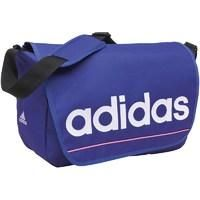 b4d2a4721bc5 adidas Essentials Linear Logo Messenger Bag Purple