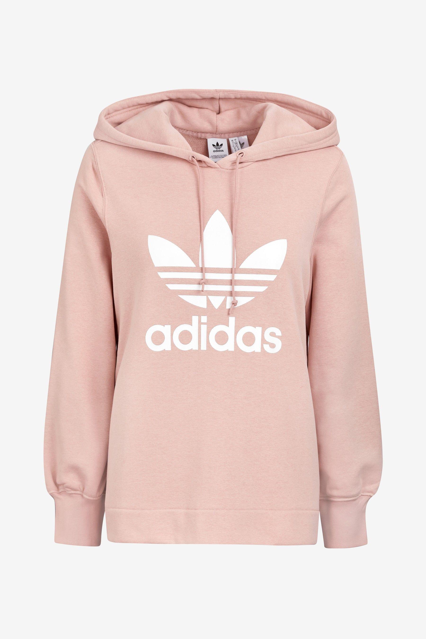 Womens adidas Originals Pink Detailed Overhead Hoody Pink