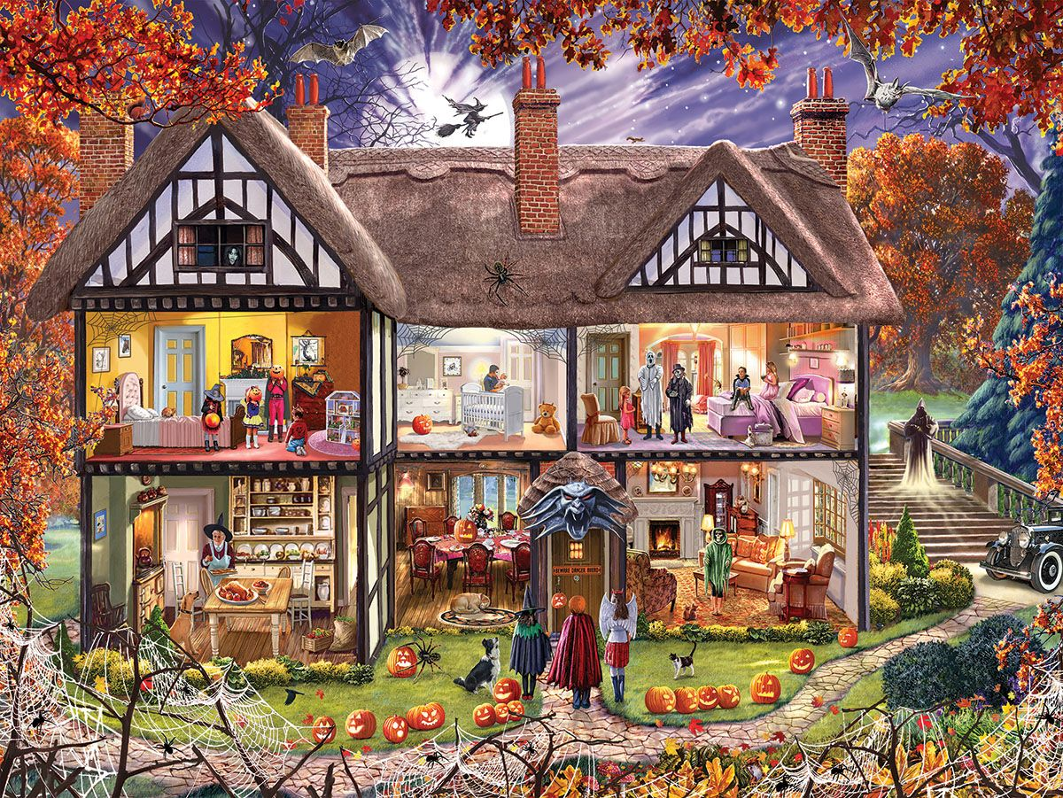 Halloween house 1290pz 1000 piece jigsaw puzzle in