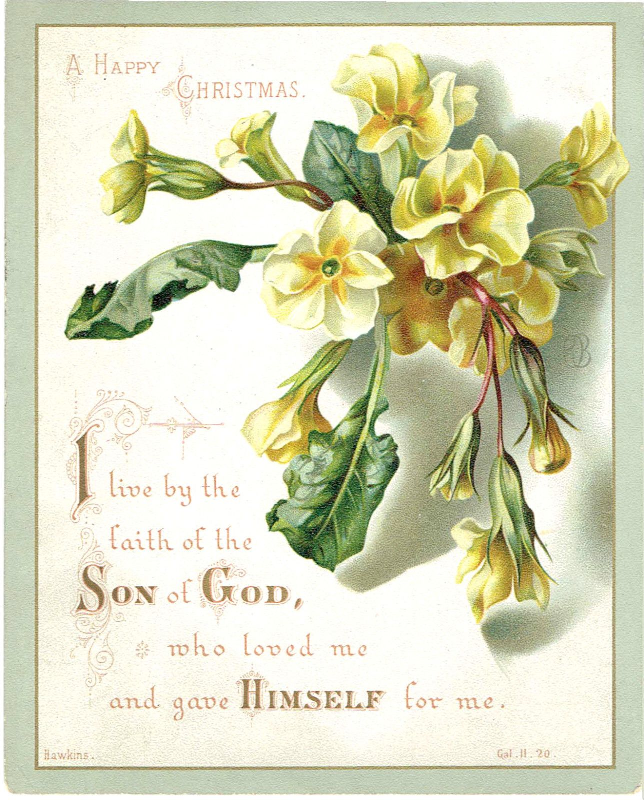 Victorian christmas greetings card religious text primula flower victorian christmas greetings card religious text primula flower hawkins ebay kristyandbryce Choice Image