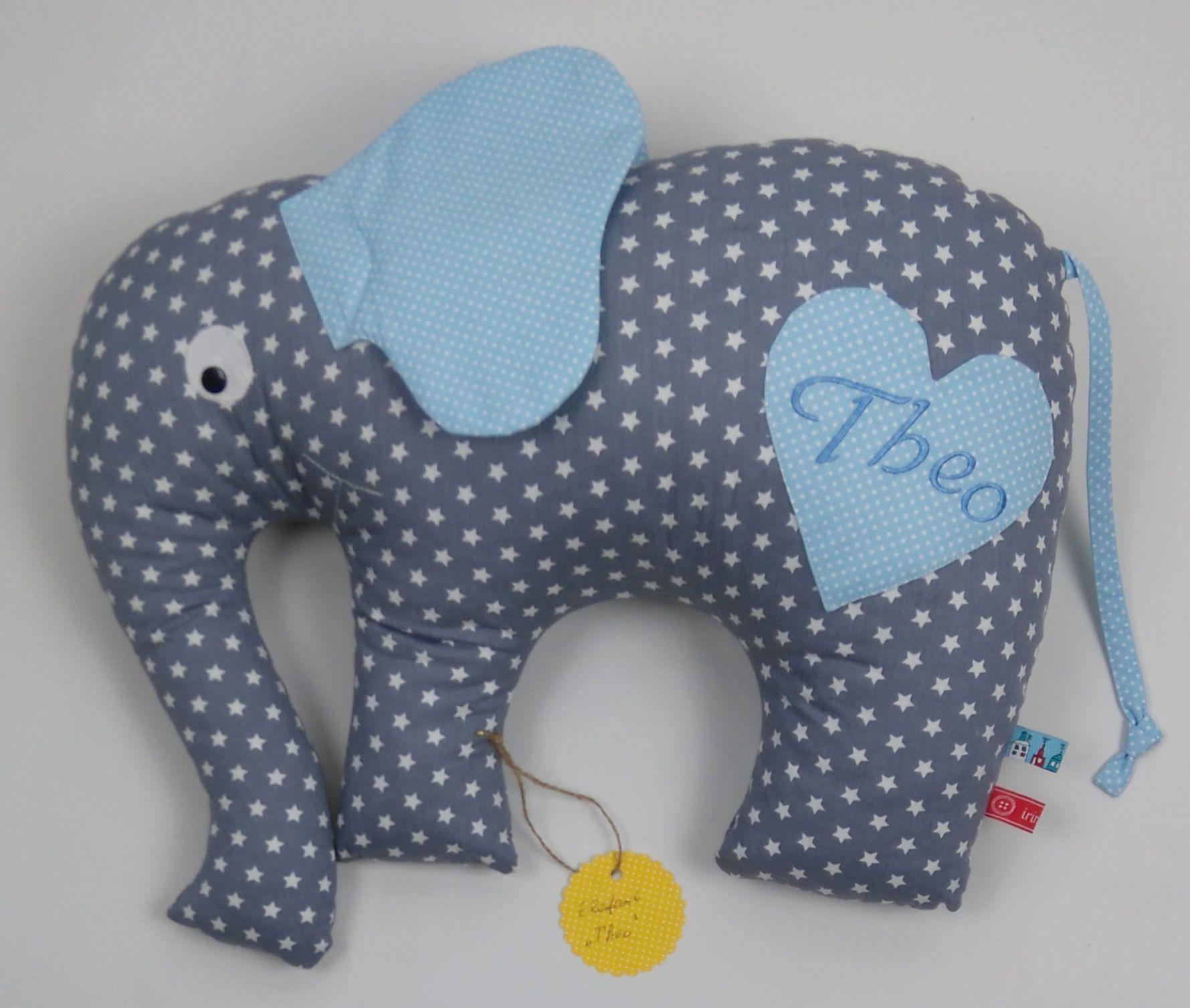 Elefantkissen Handgefertigt Mit Wunschname Elefant Gr 52x40