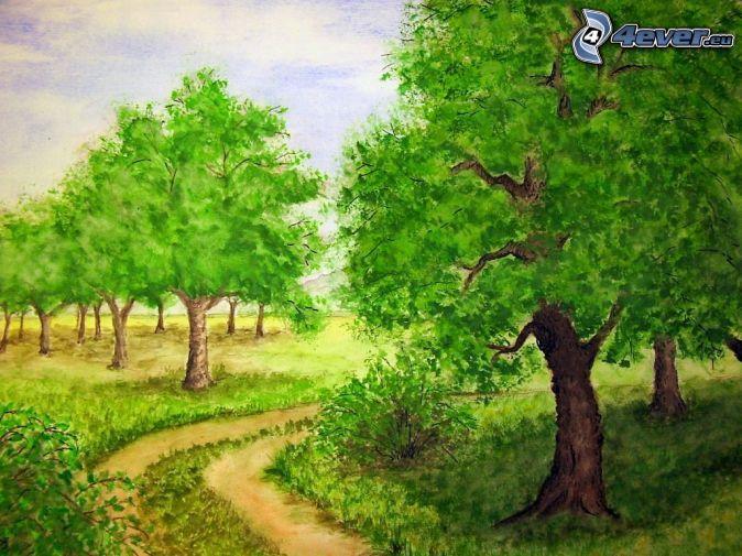 Arboles De Dibujos Animados Dibujos De Arboles Dibujos Dibujos Animados
