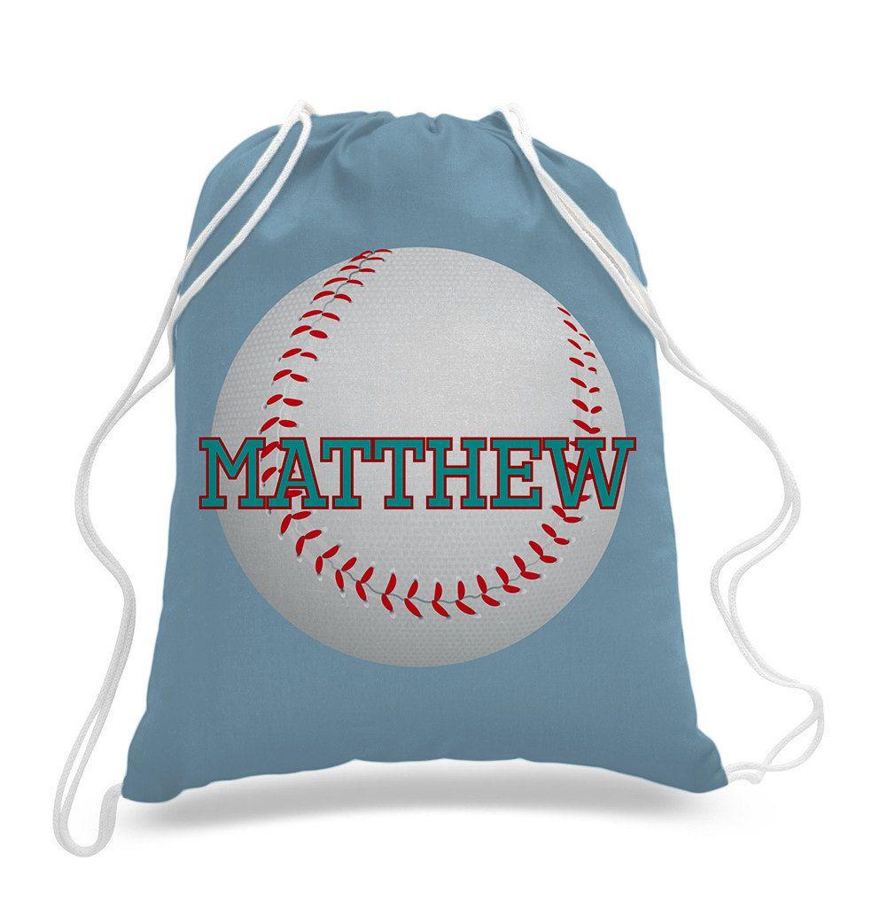 Personalized Baseball Design Kids Drawstring Bags Gym Bags Backpacks Swim Bag Sports Bag Laundry B Custom Drawstring Bags Swimming Bag Kids Drawstring