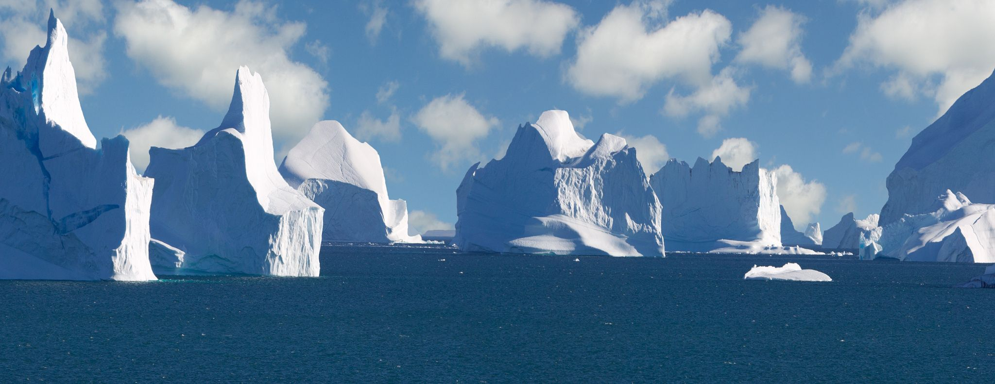 Icebergs at Scoresby Sound. - Icebergs at Scoresby Sound.