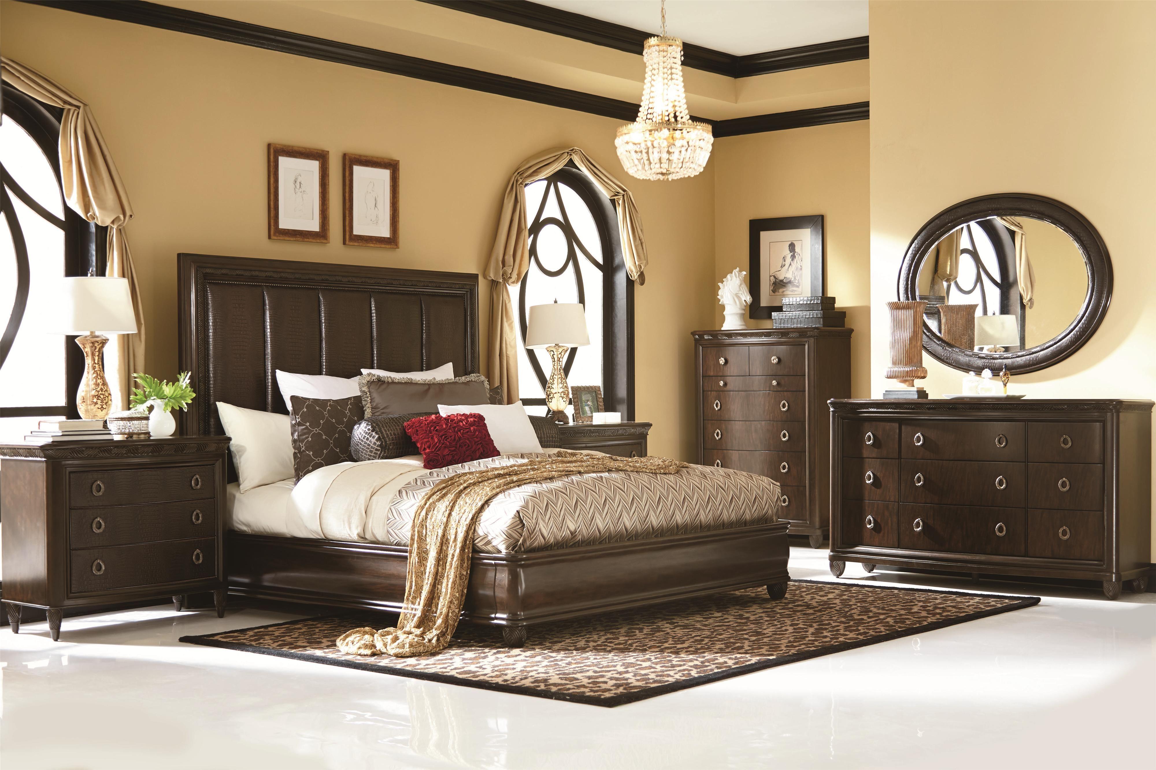 Bob Mackie Home King Bedroom Group 3 by American Drew | Romantic ...