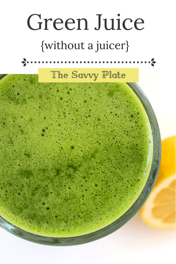 How to make healthy juice without a juicer