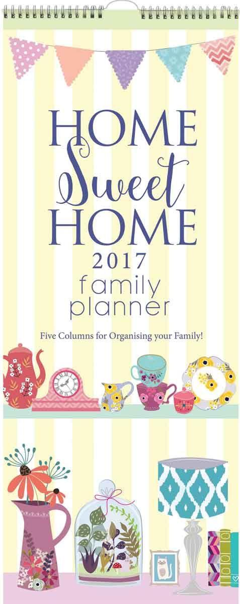 home sweet home slim family planner 2017 2017 calendars