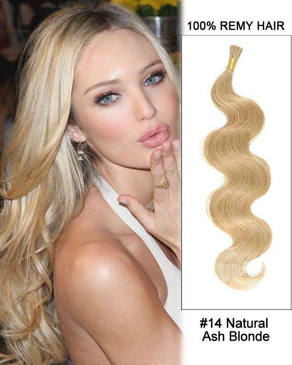 14 14 natural ash blonde body wave stick tip i tip 100 remy natural ash blonde body wave stick tip i tip remy hair keratin hair strands pmusecretfo Images