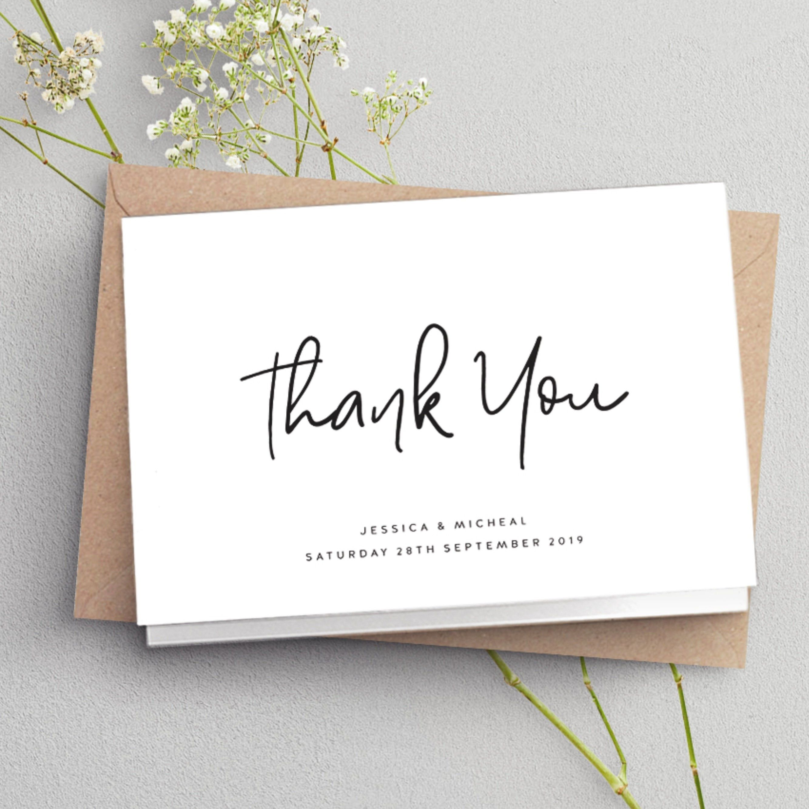 Cards Wedding Thank You Card Simple