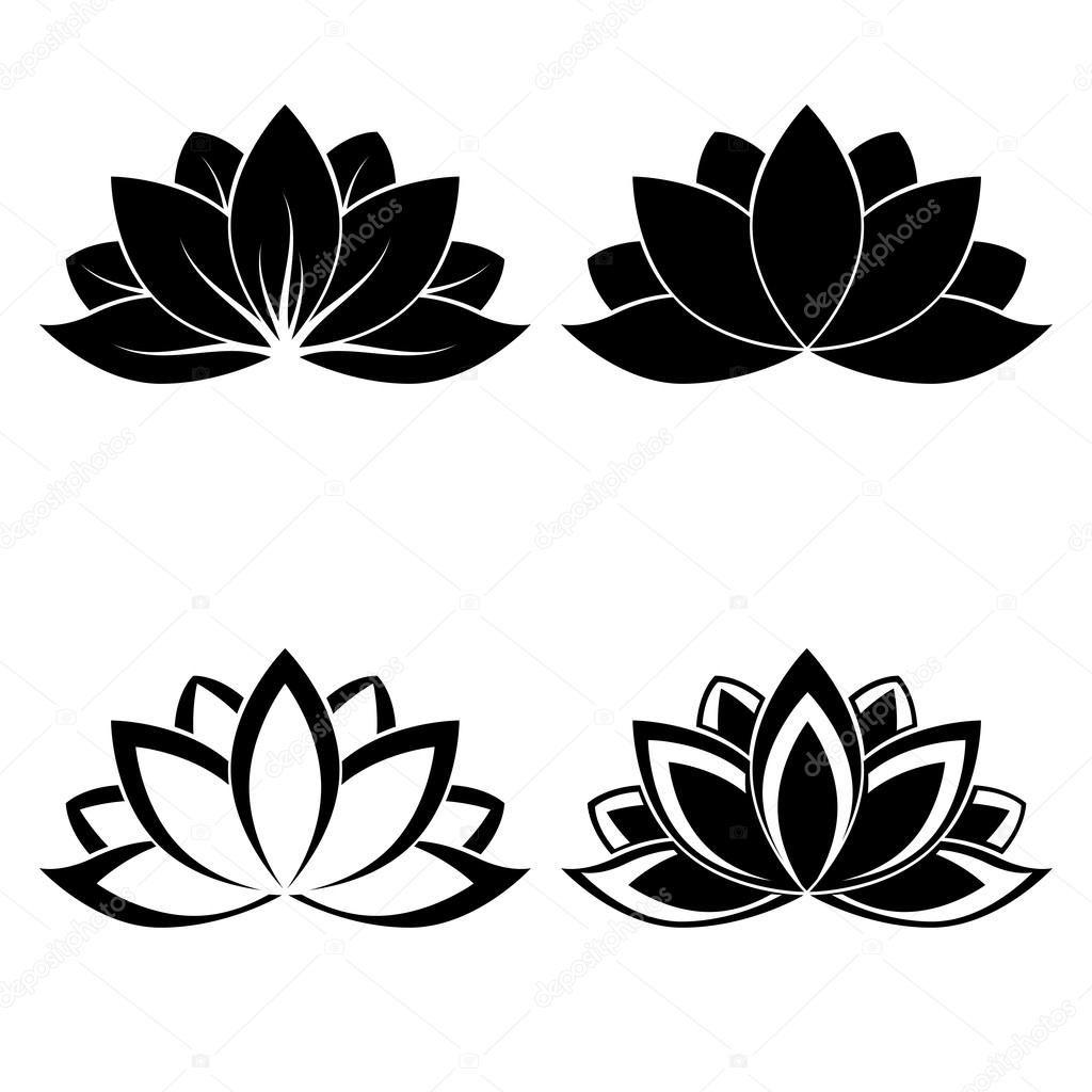 Images Lotus Flower Silhouette Vector Lotus Pinterest Lotus