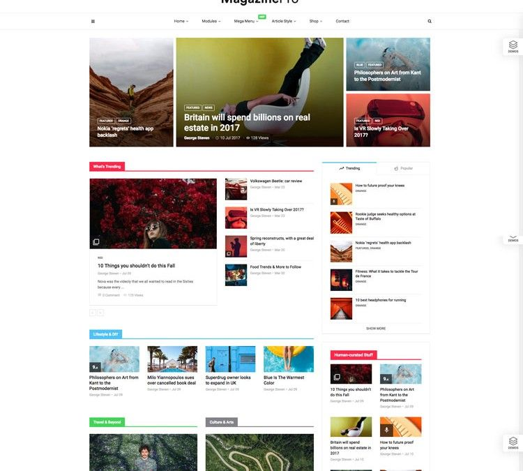 MagPlus Blog And Magazine WordPress Theme | Web Design Gfxbucket ...