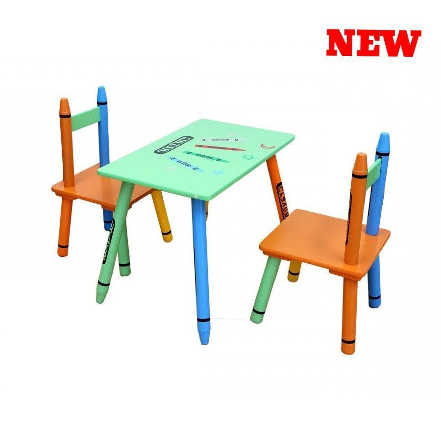 Superb Crayon Kids Table And Chair Set Wood Childrens Dining Ocoug Best Dining Table And Chair Ideas Images Ocougorg