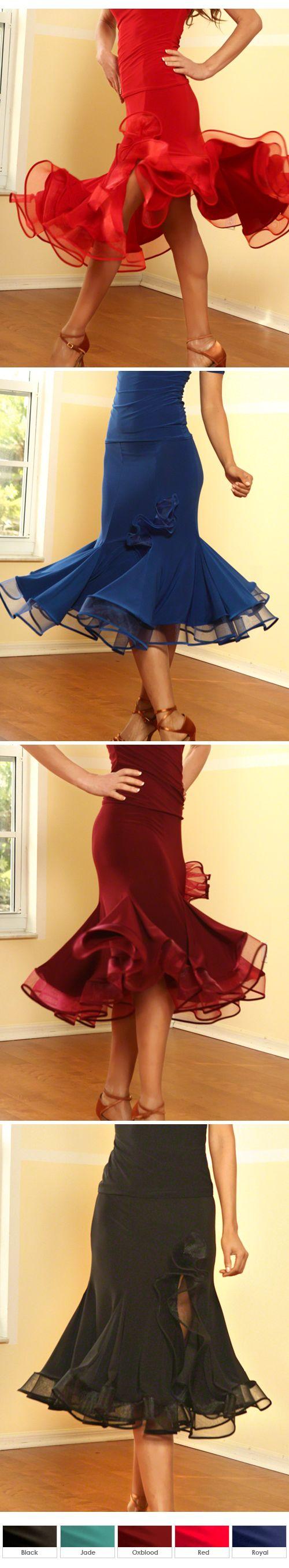 Dance America S419 - Short Crinoline Ruffled Latin Skirt