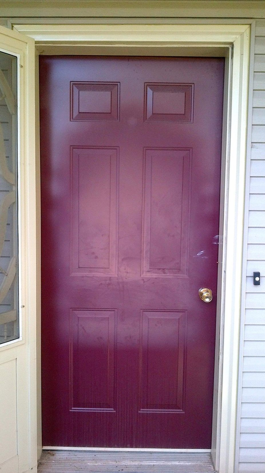 Paint Metal Front Door To Look Like Wood Door Ideas Recommended