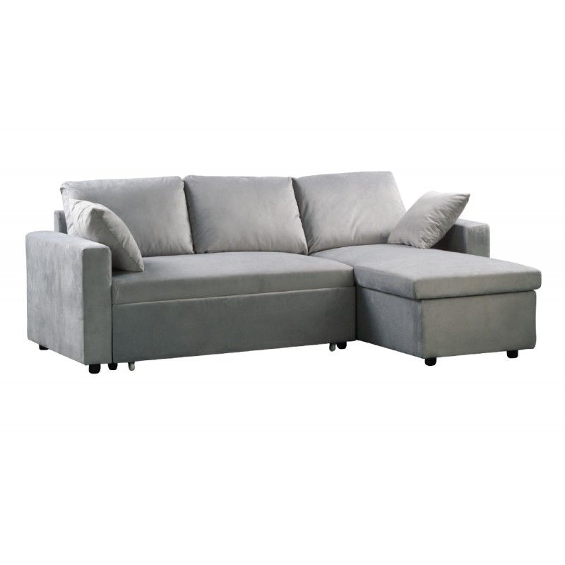 Chesterfield Sofa Sofa bed corner Montreal reversible microfiber grey xx