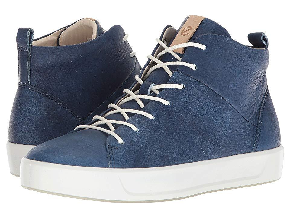 04623909e3 ECCO Soft 8 High Top Women's Lace up casual Shoes Indigo 5 ...