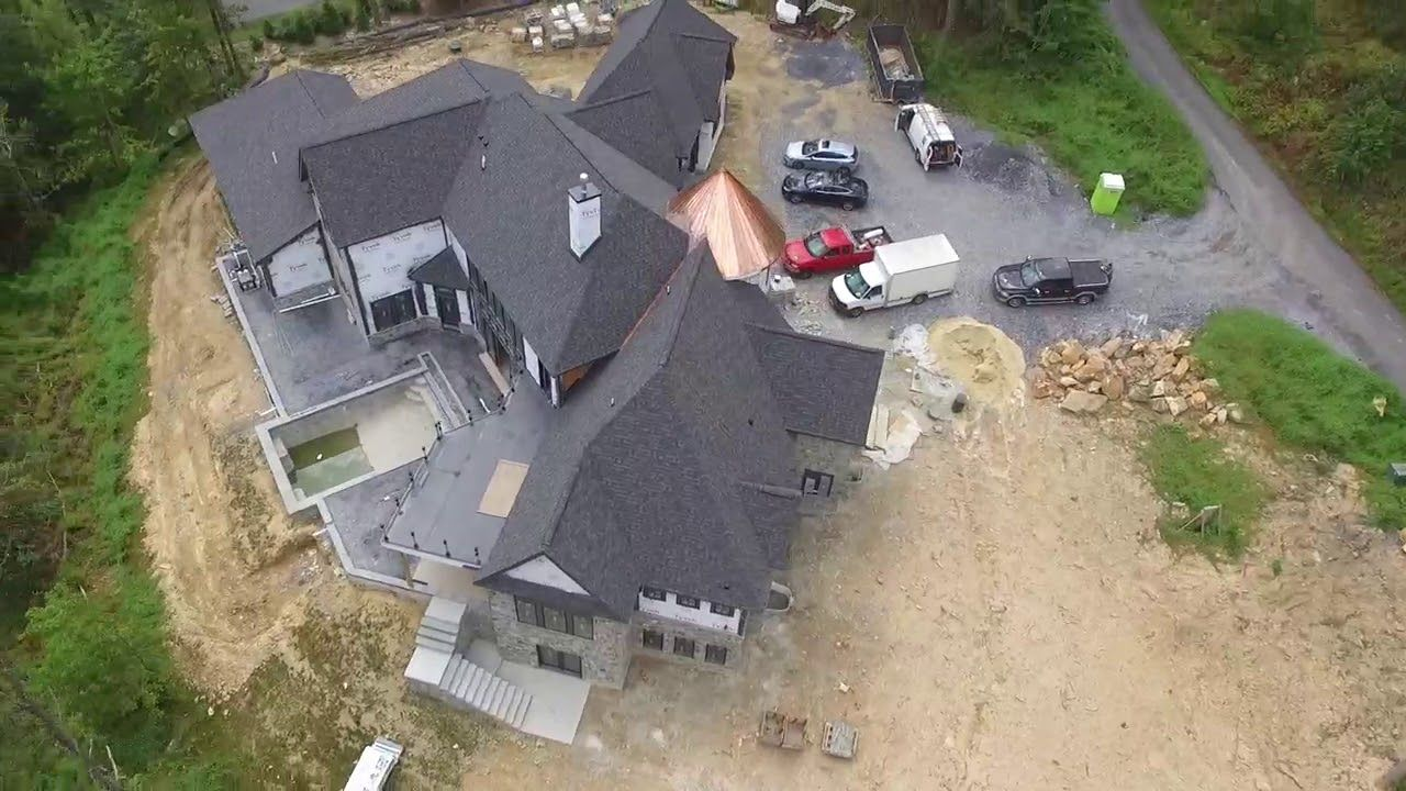 Drone footage of our new custom home being built in