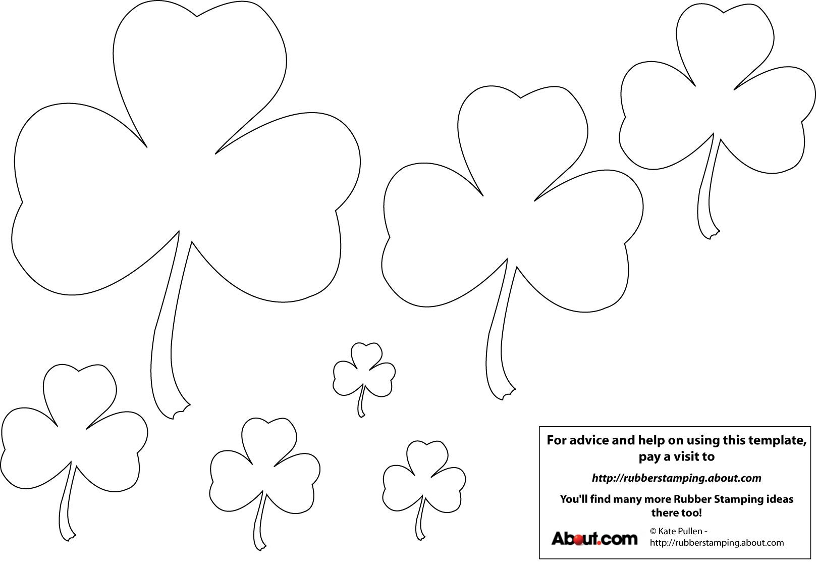 12 Free Printable Templates Shamrock Template Shape Templates Free Printable Crafts