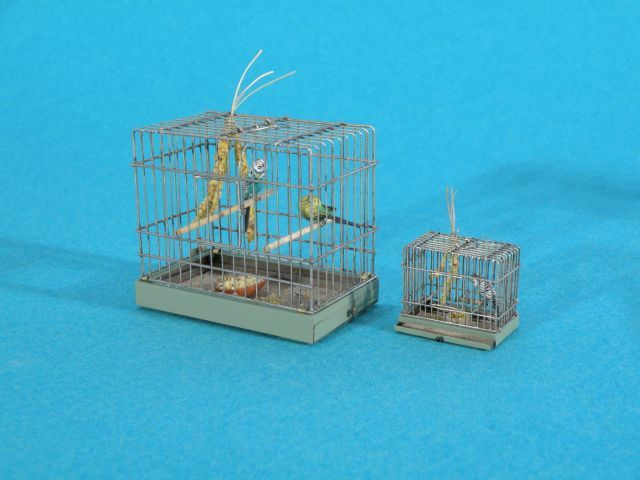 "1"" & 1/2"" scale Bird Cage by Ursula Dyrbye-Skovsted - Metalwork - Gallery - IGMA Fine Miniatures Forum"