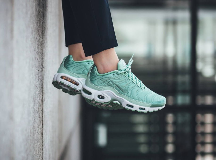 The Nike Air Max Plus Satin In Enamel Green Is Now Available