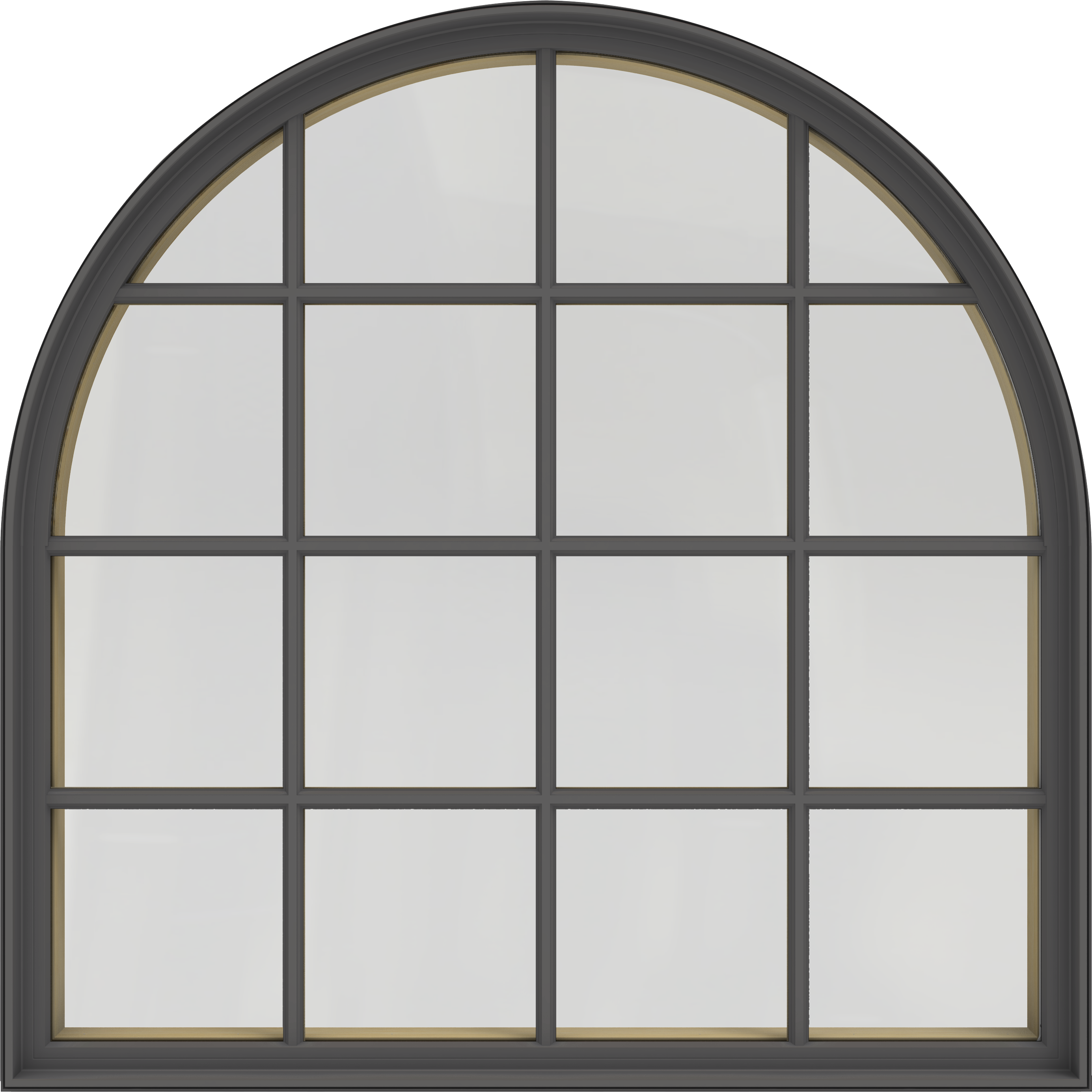 Siteline Clad Wood Windows Extended Half Round Fixed