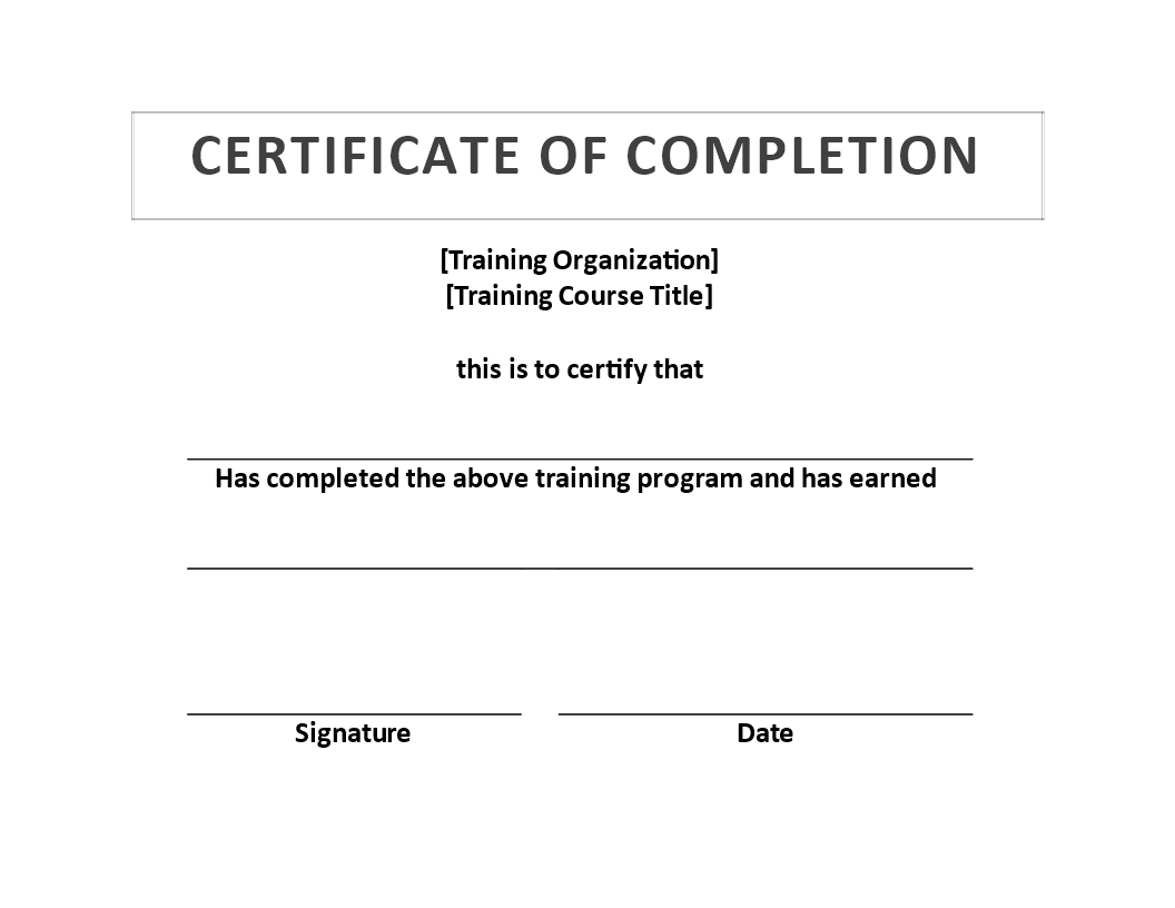 Training Certificate template - Download this Training Certificate ...