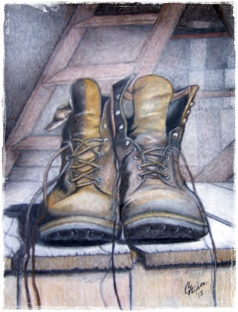 My drawing using colored pencils.