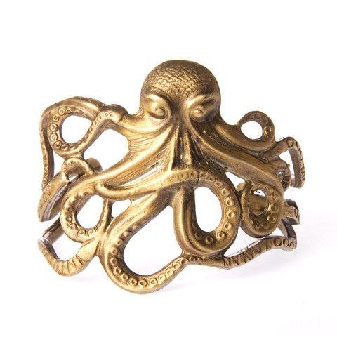 Octopus Arm Cuff-- Alkemie Jewellery