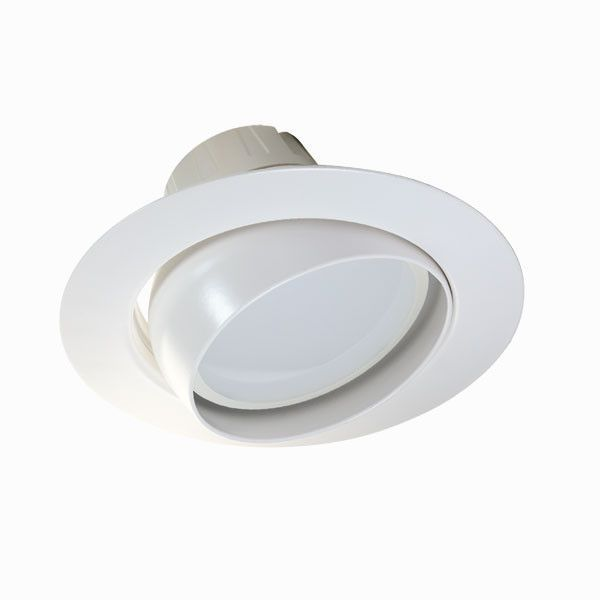 Ushio 19w 6in 1200lm Warm White Led Recessed Eyeball Kit Downlights Warm White White Lead