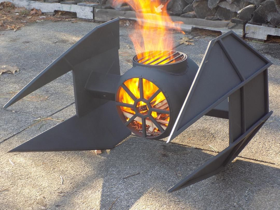 Feuerkorb Star Wars First Fire With New Interceptor Grill Fire Pits In 2019