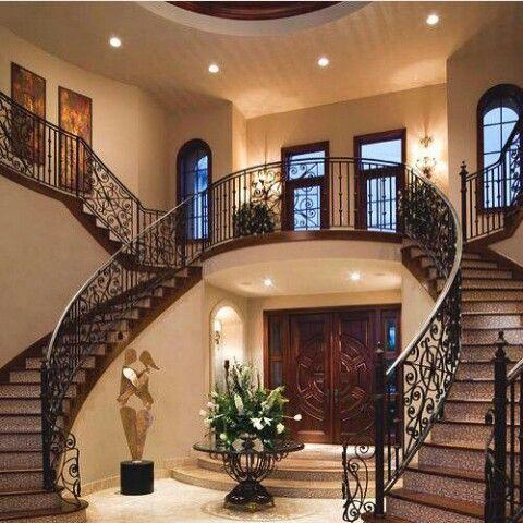 Escalerasentradamansion (con imágenes) Casas elegantes