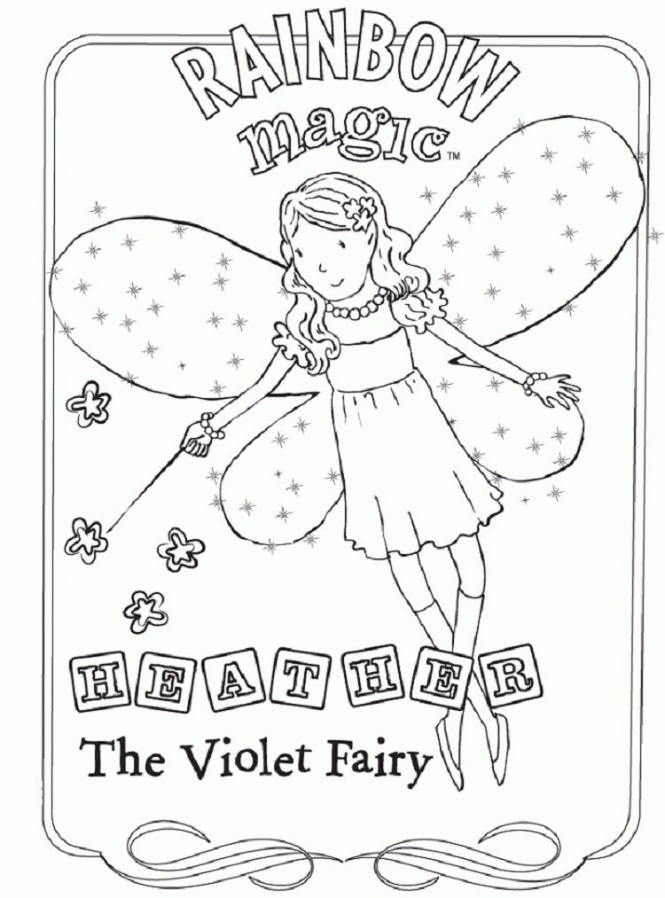 Rainbow Magic Coloring Pages Fairy Coloring Rainbow Fairies