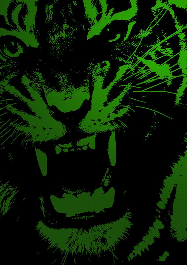 Undefined Green Tiger Wallpapers 43 Wallpapers Adorable Wallpapers Oboi Cvety Chernyj Cvet