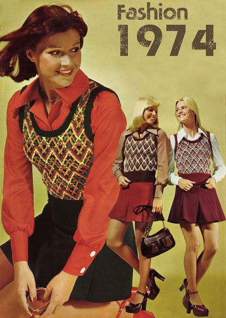 Sweater vests with pointed collared shirts & skirts