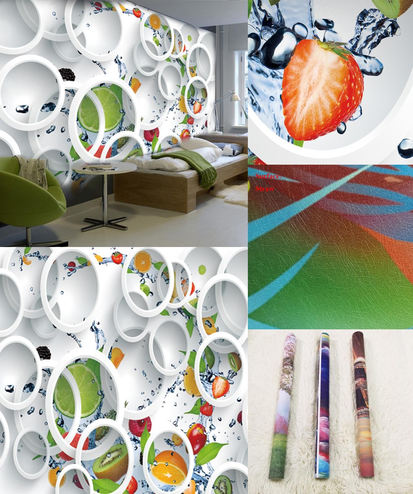 visit to custom modern minimalist mural photo wallpaper white
