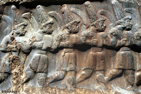 During the second half of the 17th century BC, the Hittites descended from the north and overcame the indigenous Hati people, probably incorporating much of that culture into their own. They conquered the city of Hattush, renaming it Hattusha, and made it the capital of their own empire. The Hittites rapidly became a major power, rivaling Mesopotamia and Egypt. We know from objects of trade, treaties and clay tablet records of their letters that they had contact with Mycenae,