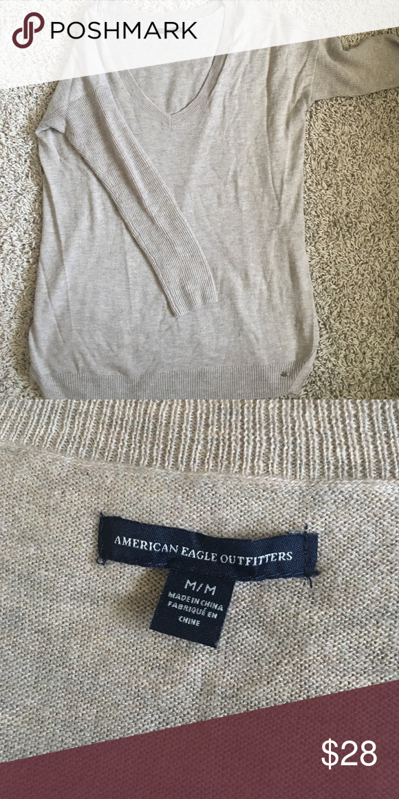 American Eagle V-neck sweater Is NWOT and has the length to be a tunic sweater. Fits anyone that is a medium or a large and has a very deep v-neck. American Eagle Outfitters Sweaters V-Necks