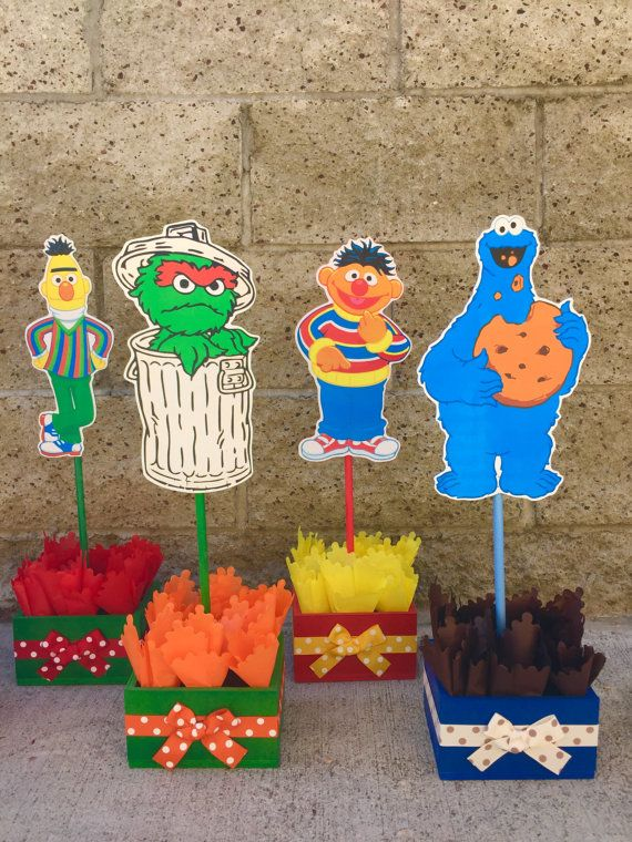 Sesame Street Birthday Centerpiece Decoration Elmo Cookie Monster Centerpieces Decorations