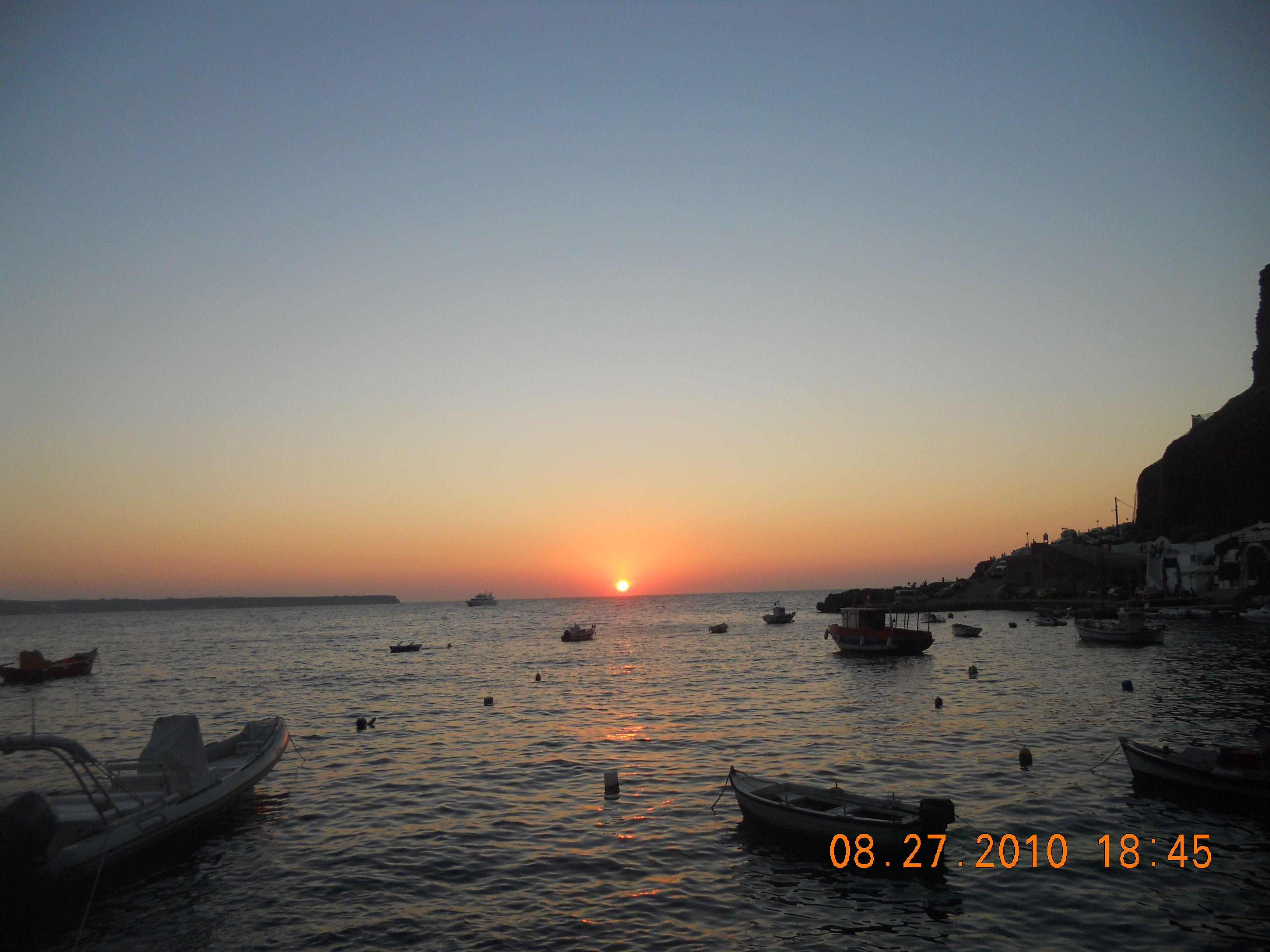 sunset santorini