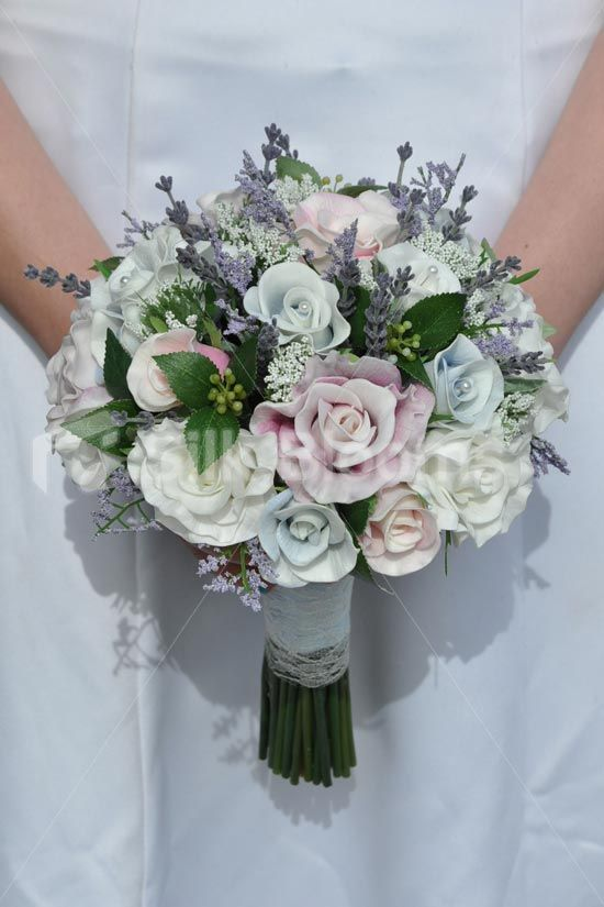 Scottish Inspired Pastel Rose and Heather Bridal Bouquet | Bouquet ...