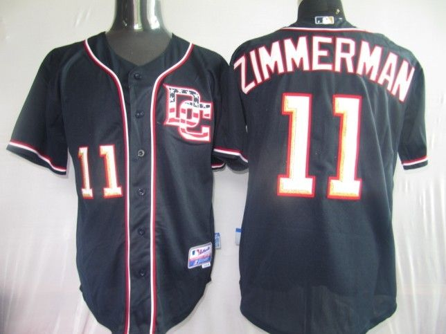 20.00 mlb jerseys washington nationals ryan zimmerman 11 dark blue