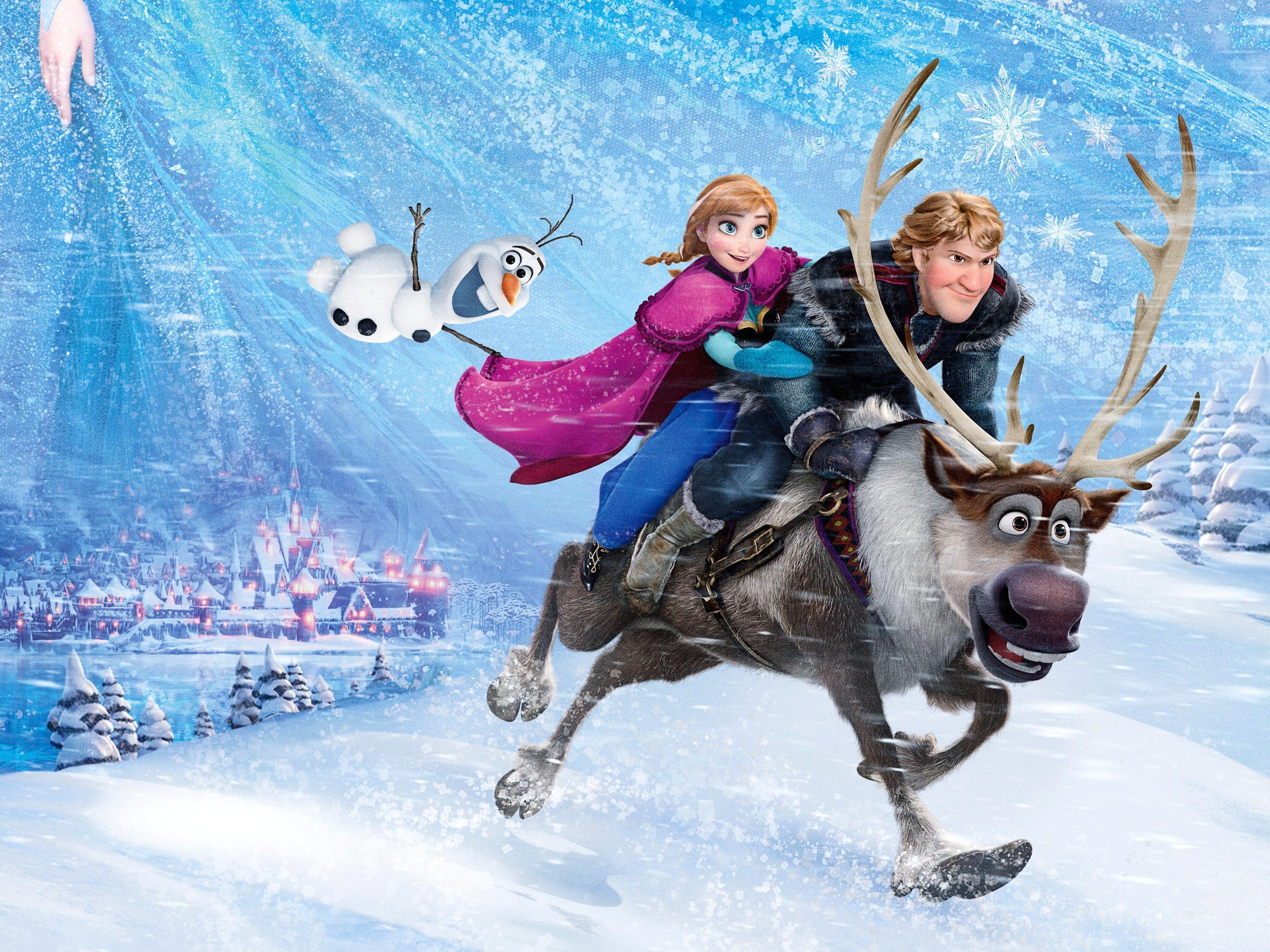 Disney Frozen Poster Snow Snowflakes The City Ice Deer Snowman Frozen Princess Kingdom Anna Anna Walt Frozen Poster Frozen Disney Movie Disney Frozen