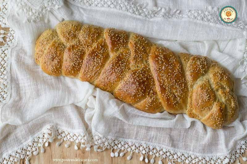 Pan casero, receta fácil sin amasado. No-knead easy homemade bread.