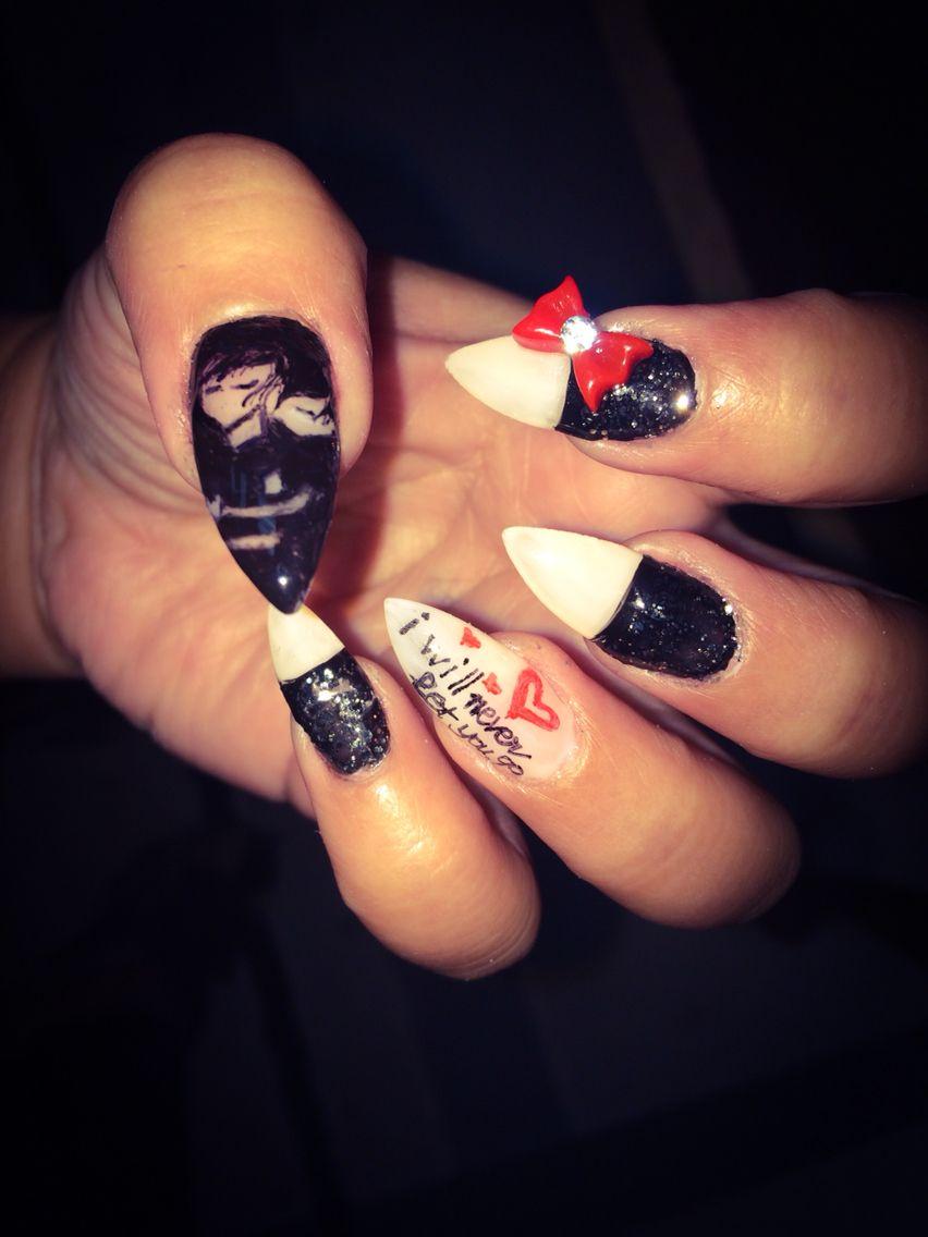 Emo nails design Emo Nail Art, Nails Design, Nail Art Designs, Summer, - Emo Nails Design Nail Designs By Summer Pinterest Nail Designs