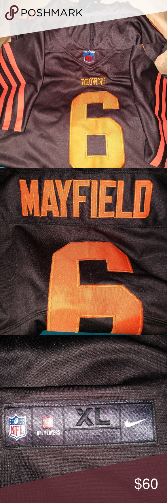 official photos cdee6 d8282 CLE Browns Baker Mayfield #6 Color Rush jersey ...